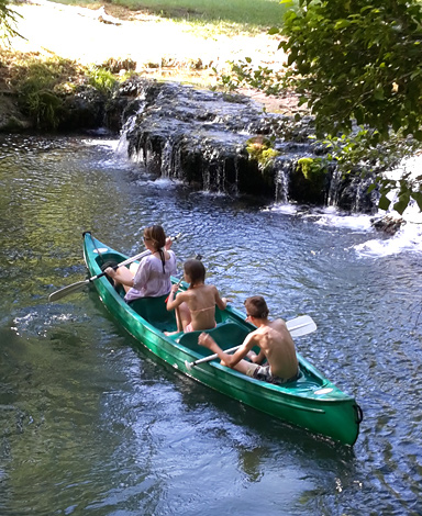 canoe kayak bed and breakfast moulin benedicty france